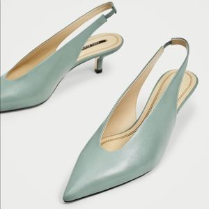 🍋NWT leather sling back shoes